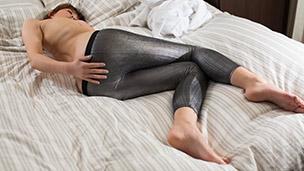 Putting on Silver Leggings