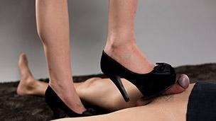 Black High Heels Stepping