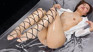 Ribbon Print Pantyhose Liquid Masturbation