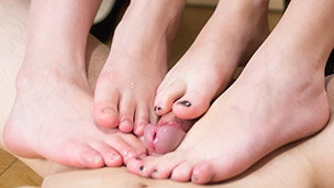 Dinner Party Double Footjob