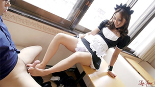 Maid Cafe Footjob
