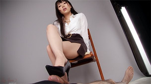 Office Girl Footjob