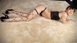Black Net Stockings and Heels