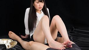 Office Girl Footjob