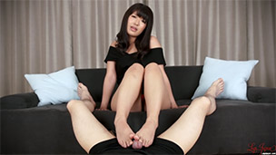 Footjob in Black