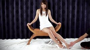 Feet Tickling in White Dress