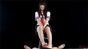 Schoolgirl Footjob