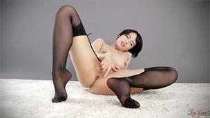 Garter & Stockings Masturbation