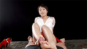 Red Skirt Footjob
